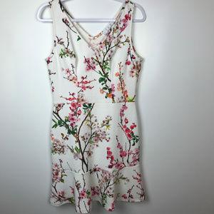 Pappillon Blanc Sz M Floral Print Sleeveless Dress